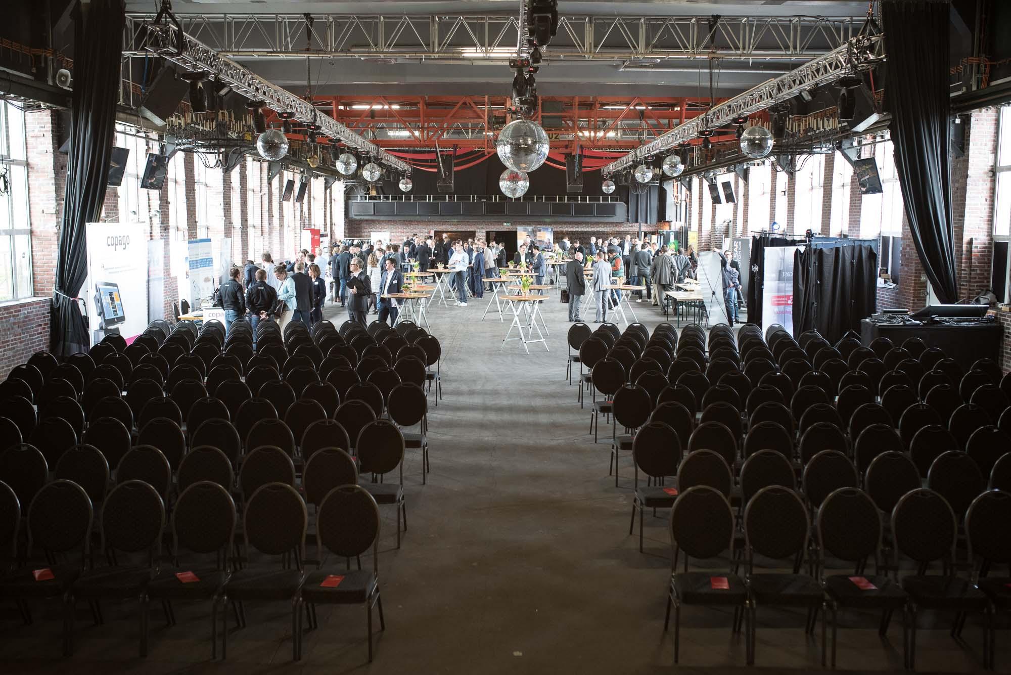Blick von der Bühne des Stahlwerks