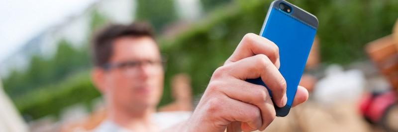 Smartphone im Einsatz