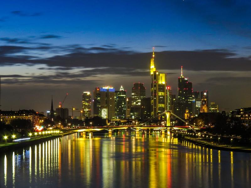 Skyline Frankfurt am Main bei Nacht