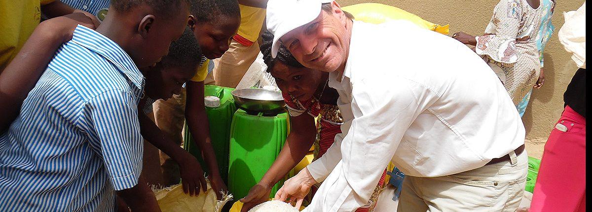 Herr Gorenflos in Burkina Faso