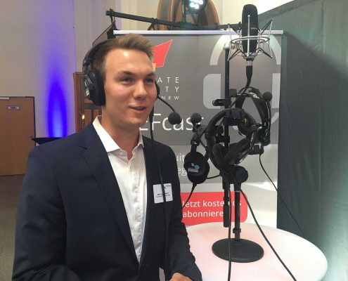 Interview am PEFcast Stand
