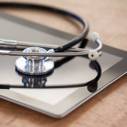 Stethoskop auf iPad